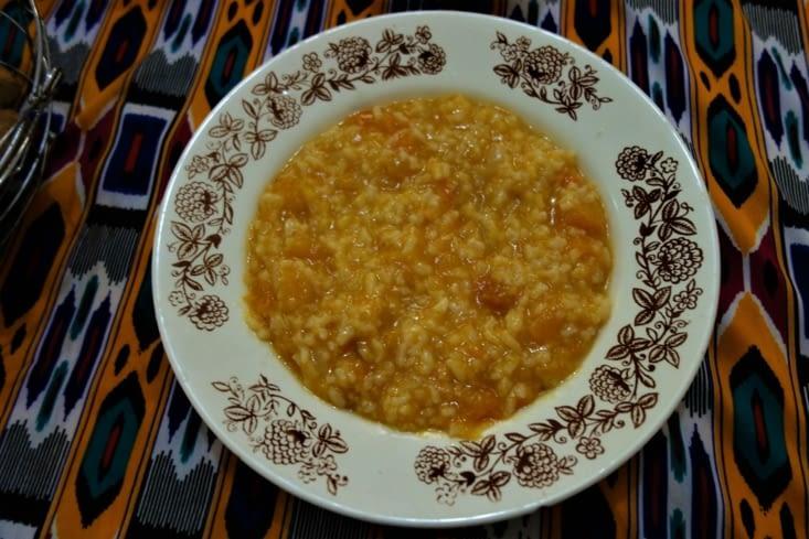 Riz et courge au déjeuner / Rice and pumpkin for lunch