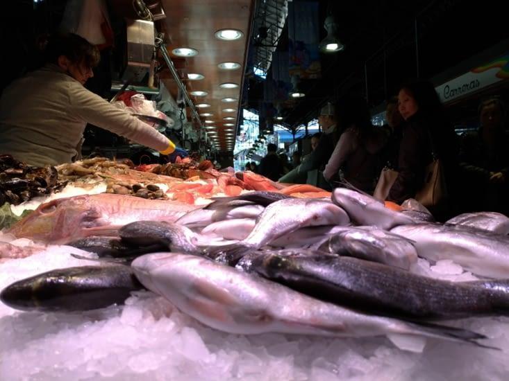 Le banc du poissonnier est impressionnant...