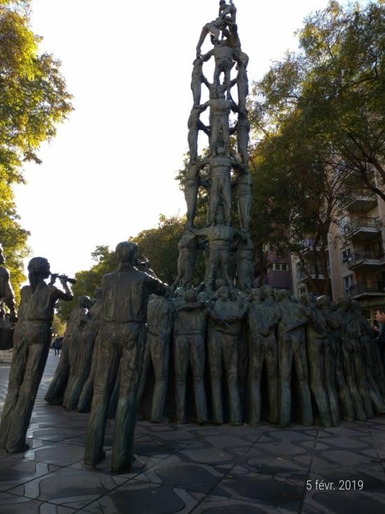 La statue des Castellers