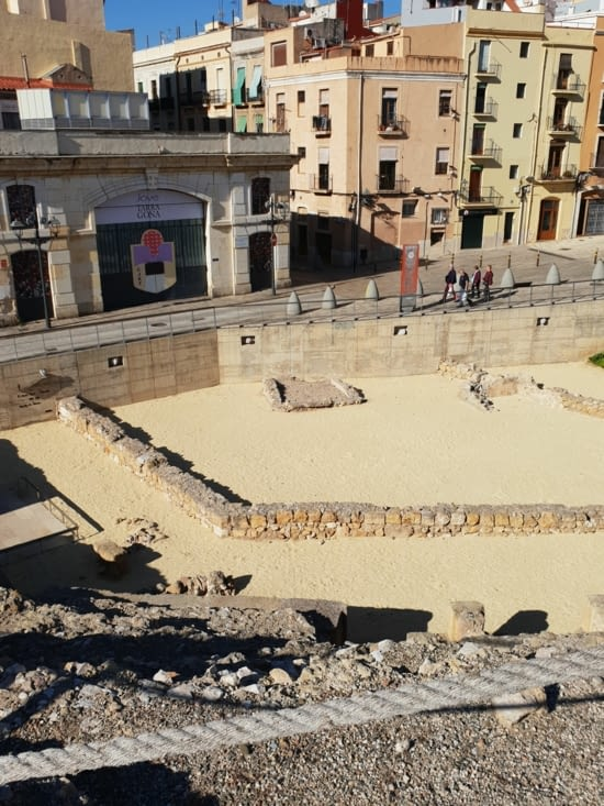 Voici les vestiges du cirque romain