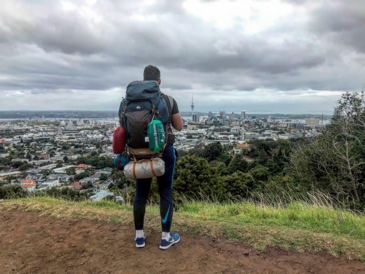 Vu sur Auckland depuis le Mont Eden