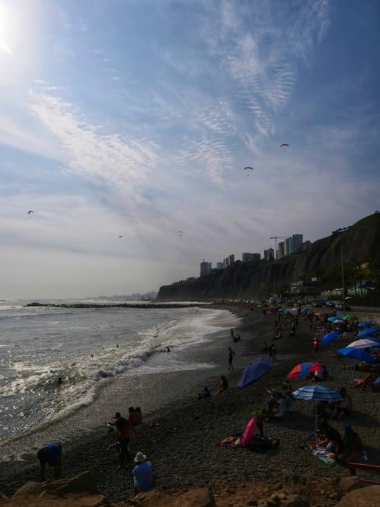 La plage de Lima
