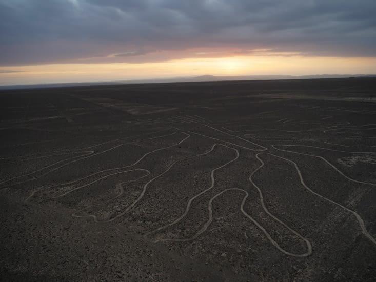 L'une des figures de Nazca, depuis le Mirador