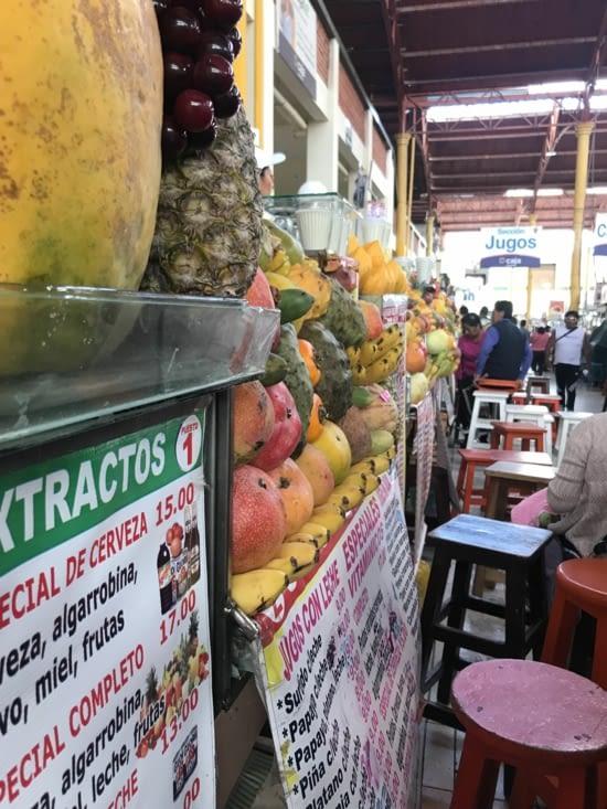 Le marché et ses fruits
