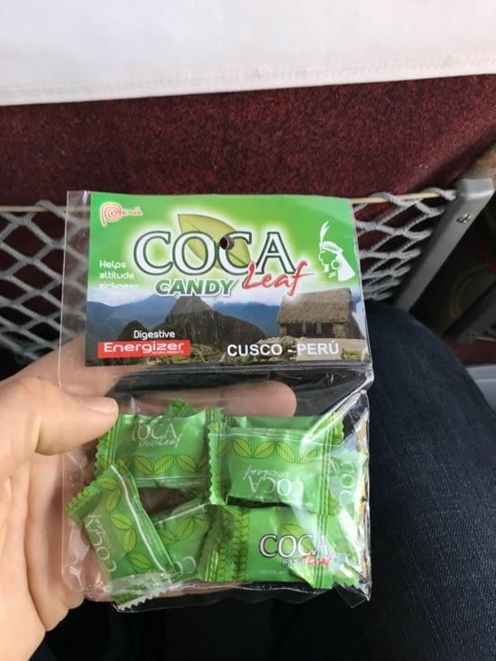 Bonbons à base de feuille de coca