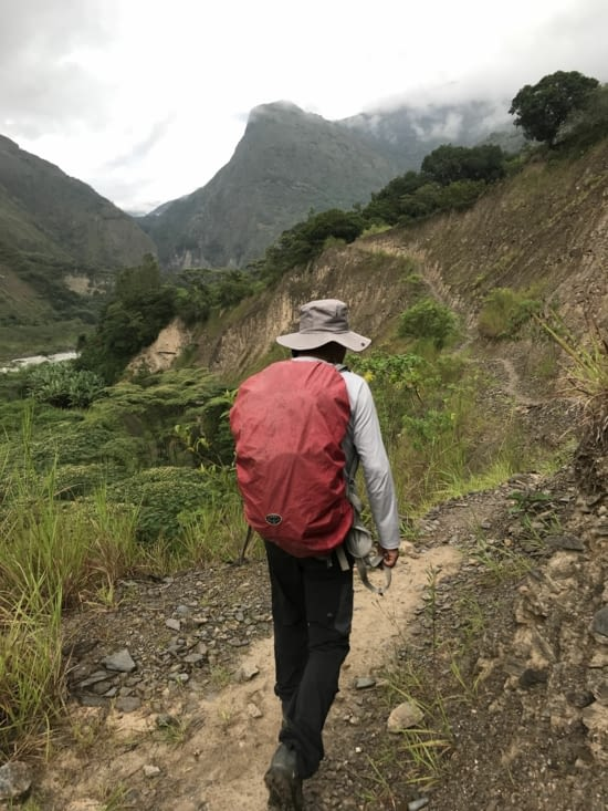 Début de l'inca trail
