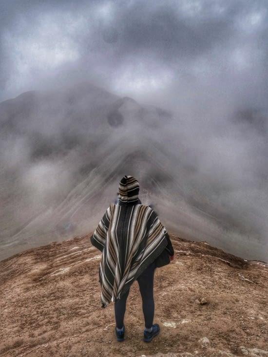 Tel un Roi Inca sur sa montagne
