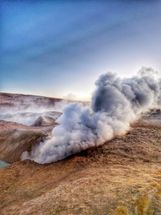 Le geyser sol de mañana