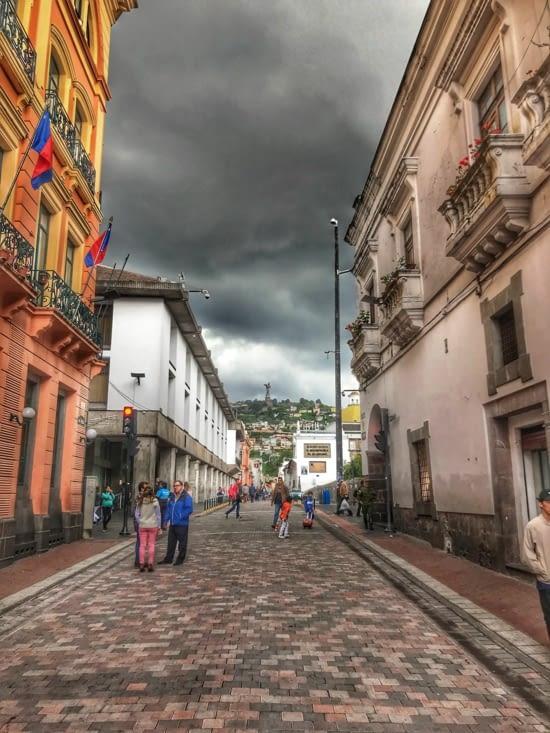 les rues de Quito