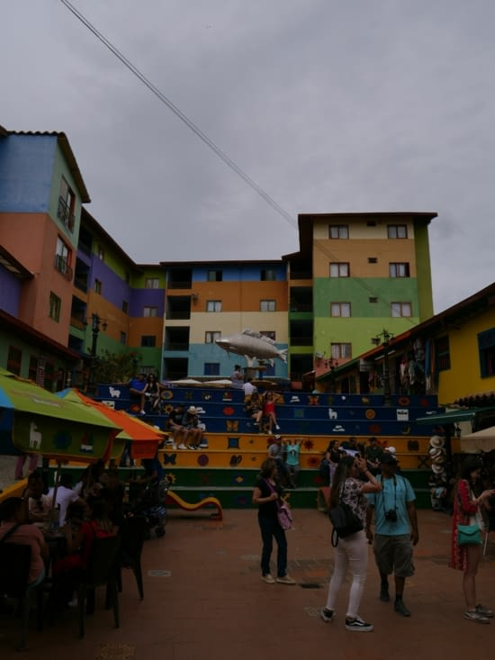 the colorful fish plaza