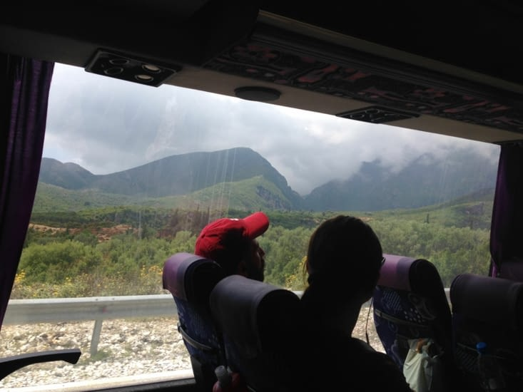 Paysage vu du bus