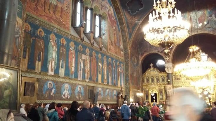 Centre historique de Sofia : intérieur de l'église Sveta Pedka Samardjiïska