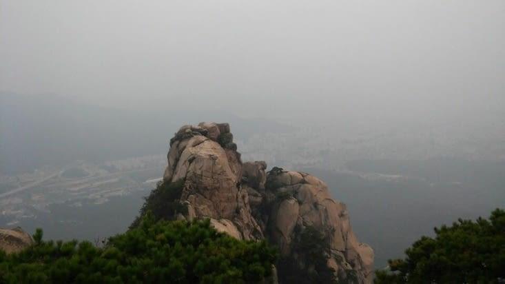 La ville derrière le mont Bukhansan