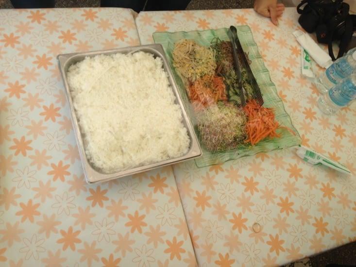 Quelques ingrédients du bibimbap
