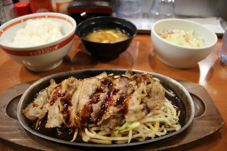 Ce qu'on peut entre autre manger dans un fastfood japonais