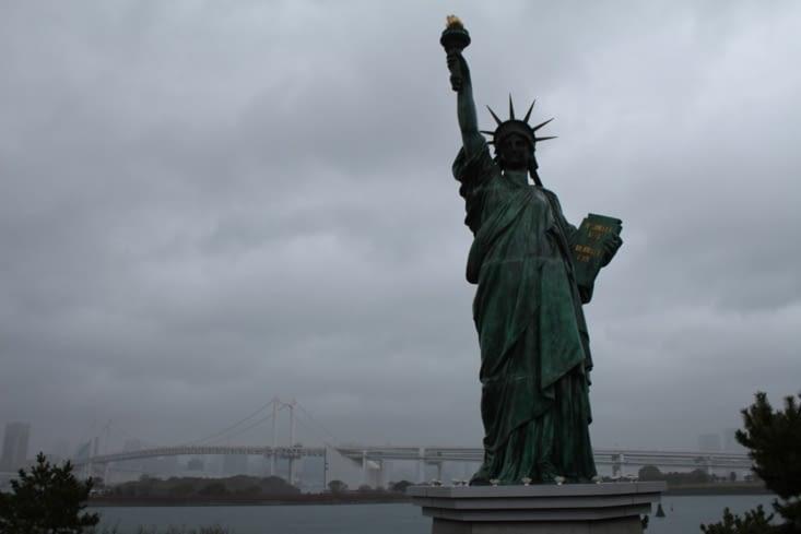 La statue de la liberté d'Odaiba