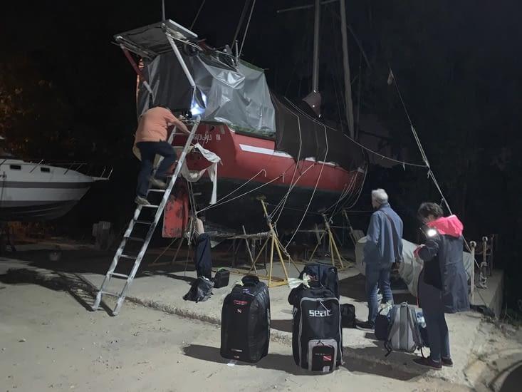 Notre arrivée au port de Gelves