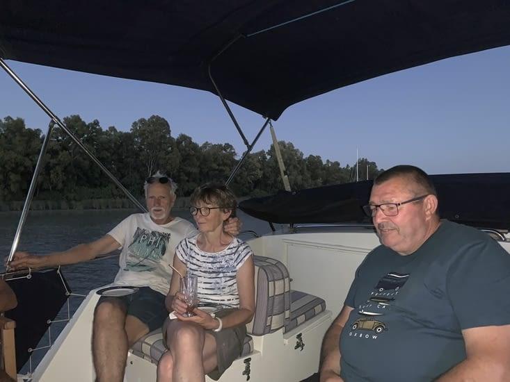 Petite soirée sympa sur le bateau de nos amis