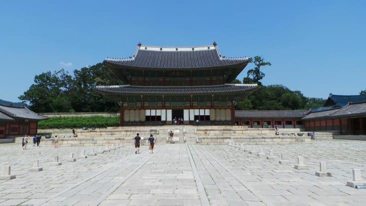 Le premier bâtiment du palais de Changdeok !