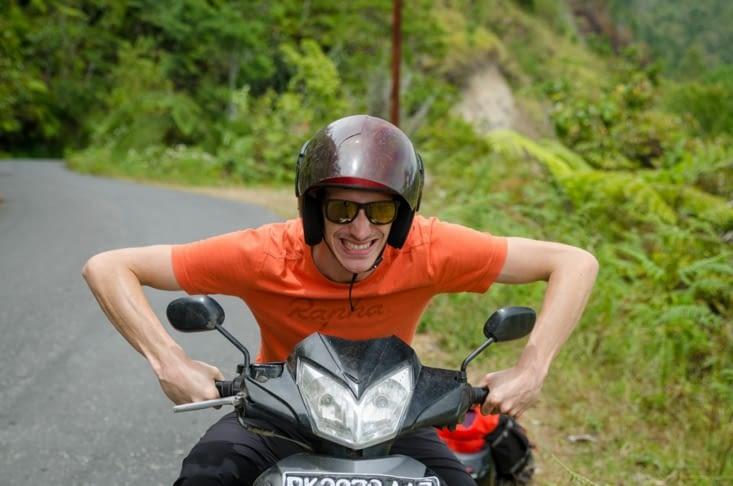 Petit tour en scooter