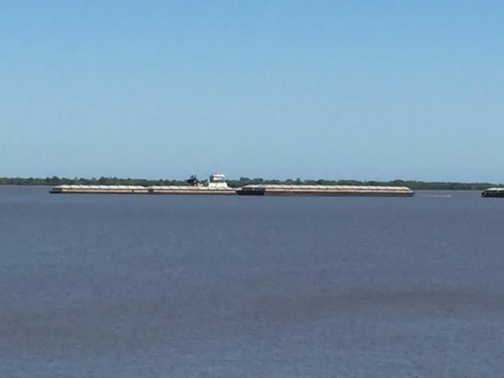 Des bateaux transportent les céréales