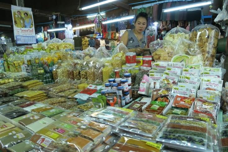 1ère étape du cours de cuisine: le marché