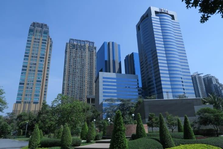 Bangkok depuis le Chatuchak Park