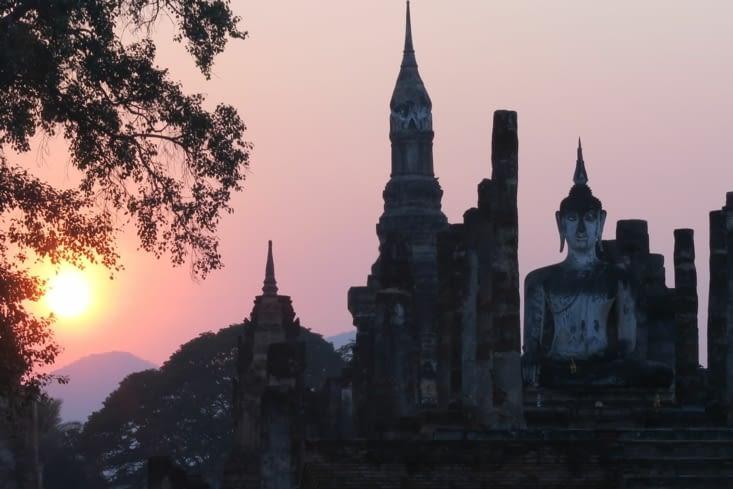 Coucher de Soleil sur le Sukhothai Historical Park 2