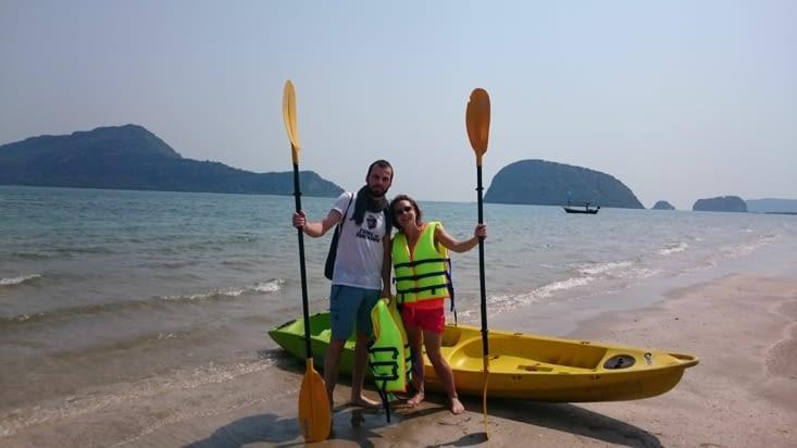 Matinée kayak sur la mer
