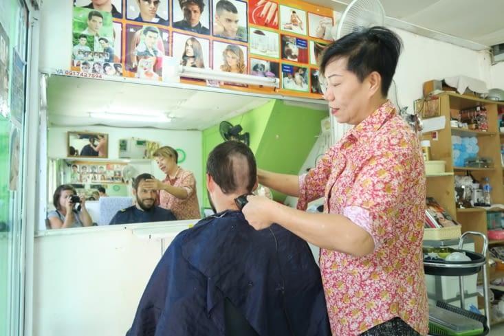 Petite incompréhension chez le coiffeur !