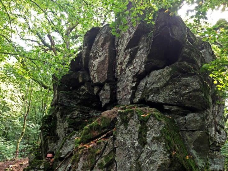 Formations rocheuses le long du chemin
