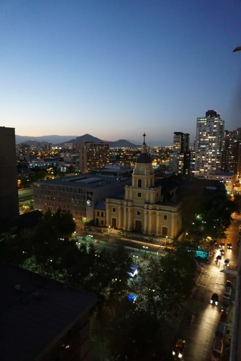Santiago by night