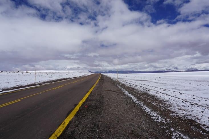 On the road, dans le désert ...