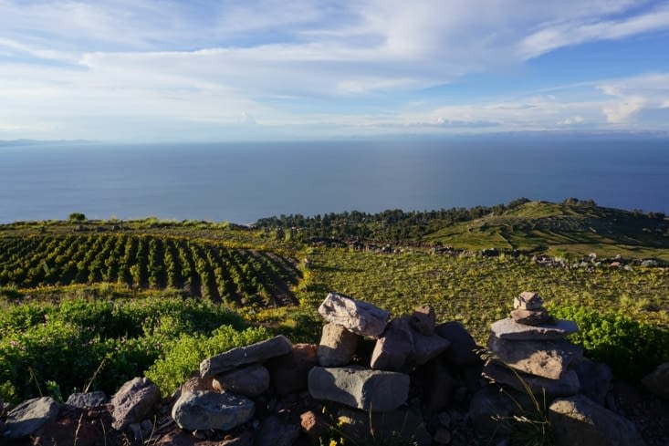 Coucher de soleil sur l'île Amantani