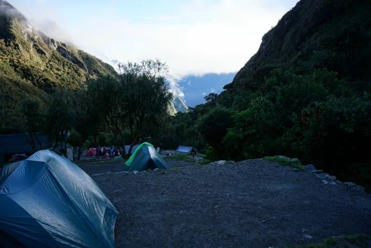 Lever de soleil sur le campement numéro 2