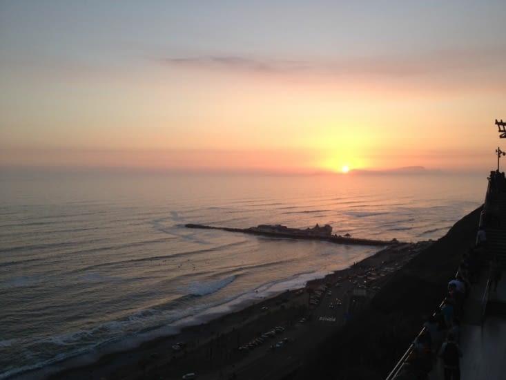 Coucher de soleil sur Miraflores