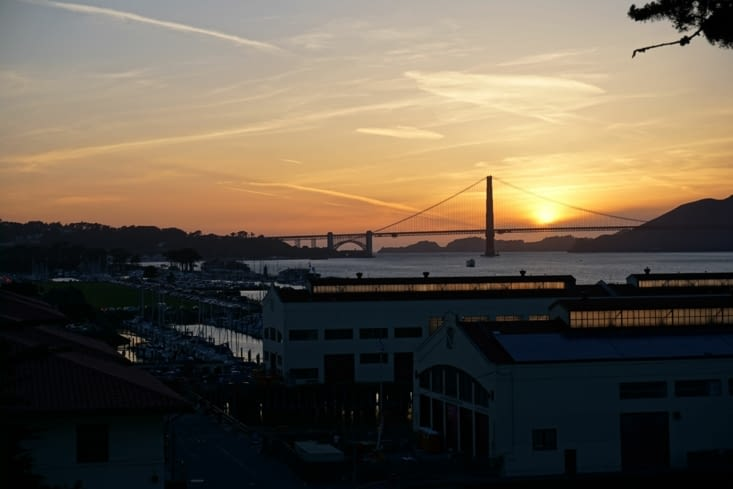 Sunset sur le GGB