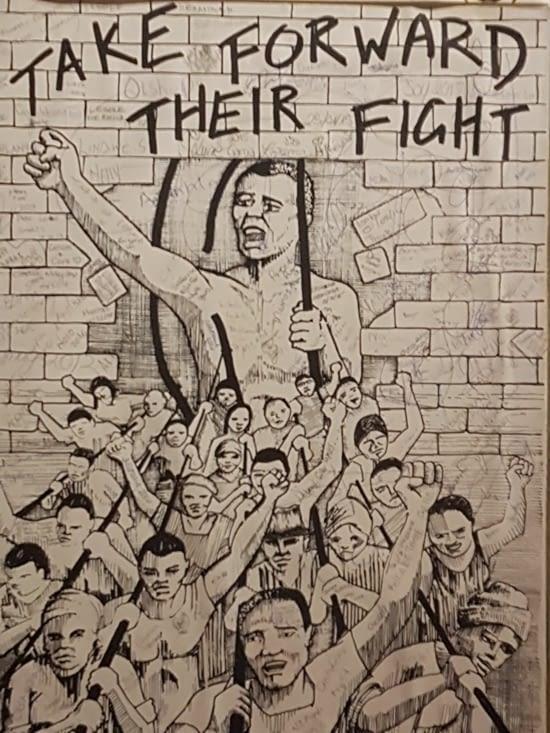 La lutte contre l'apartheid.