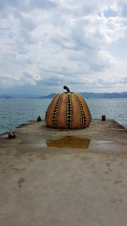 Yayoi Kusama : pumpkin symbole de l'île
