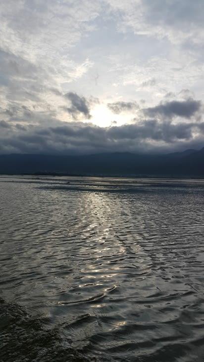 Départ à 5h45 pour voir le lever du soleil sur le lac