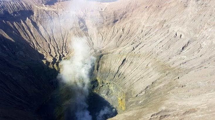 Bruit tonitruant du volcan qui gronde