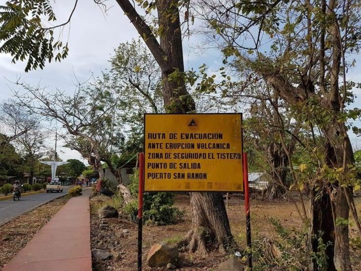 Plan d'évacuation en cas d'éruption volcanique. ....
