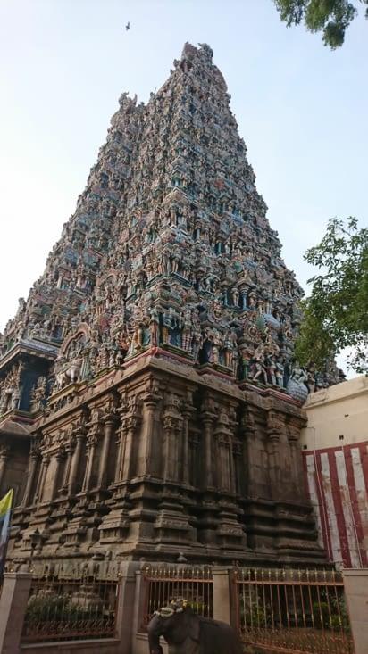 Magnifique temple hindou. Sri Meenakshi.
