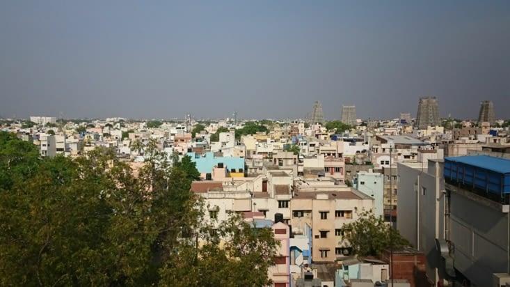Roof top. Vue sur Madurai