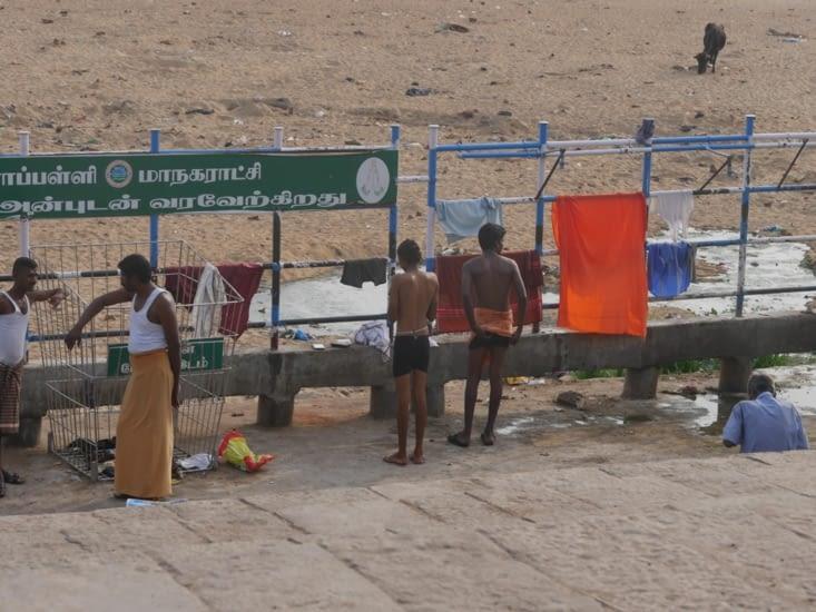 Sur les rives du Cauvery complètement à sec...