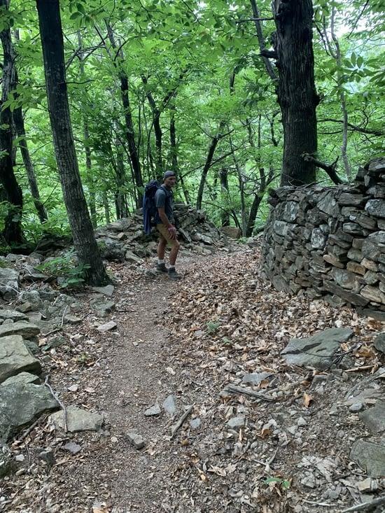 Retour par un joli sentier et un sous bois