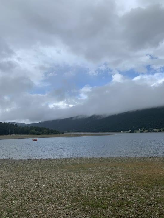 Repérage au lac des Angles pour du paddle un de ces prochains jours