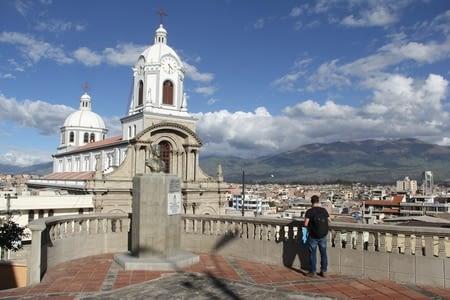 Riobamba et le volcan Chimborazo