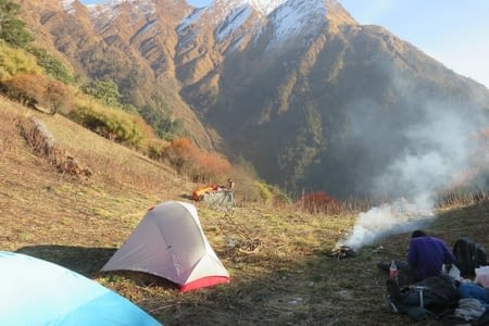 L'Annapurna base camp north.