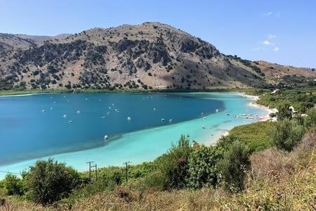 Lac de Kournas, Geogiopouli et plage d'Ombrogialos